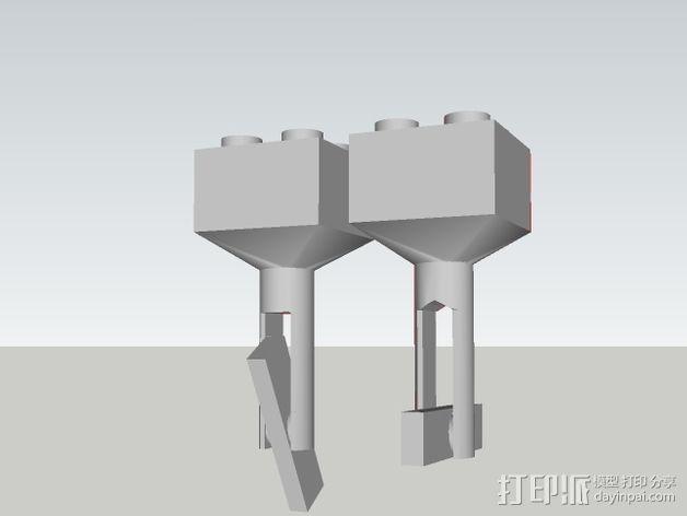 乐高积木 袖扣 3D模型  图3