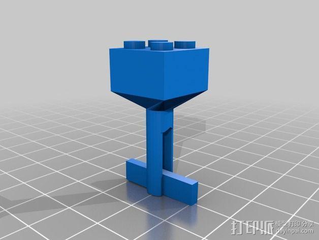 乐高积木 袖扣 3D模型  图2