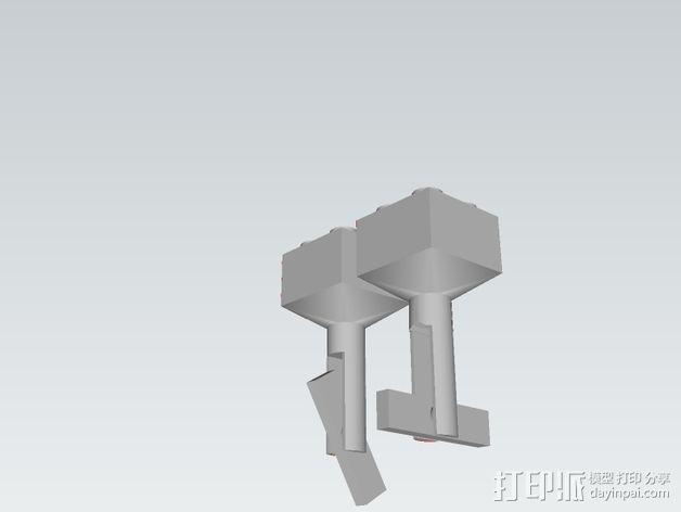 乐高积木 袖扣 3D模型  图5