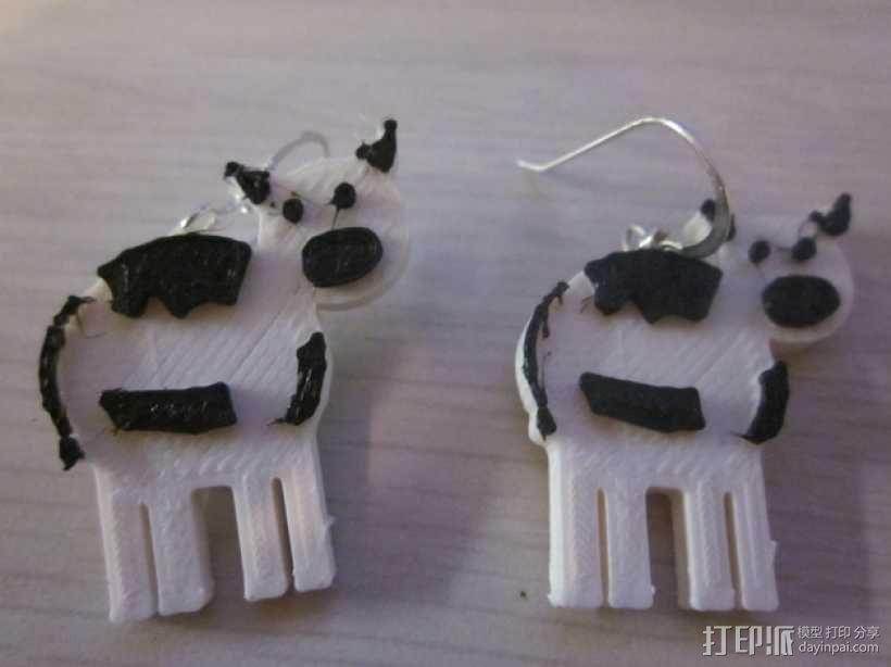 奶牛耳环 3D模型  图1