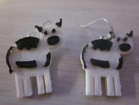 奶牛耳环 3D模型