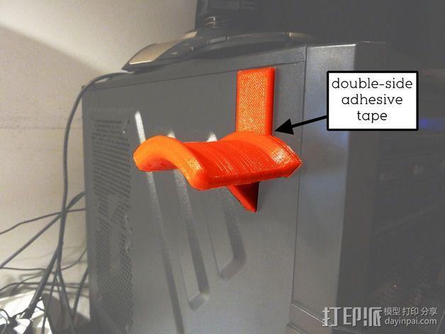 头戴耳机悬挂架 3D模型  图4