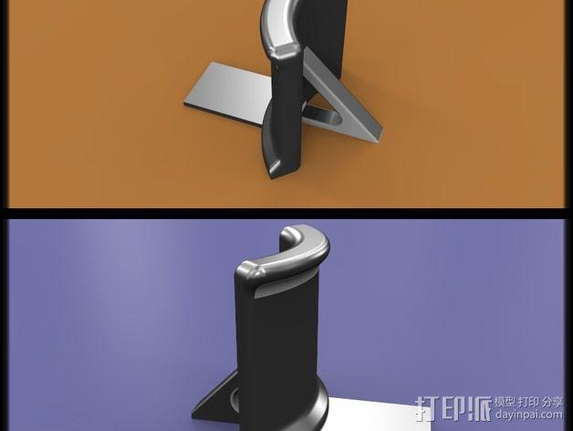 头戴耳机悬挂架 3D模型  图3