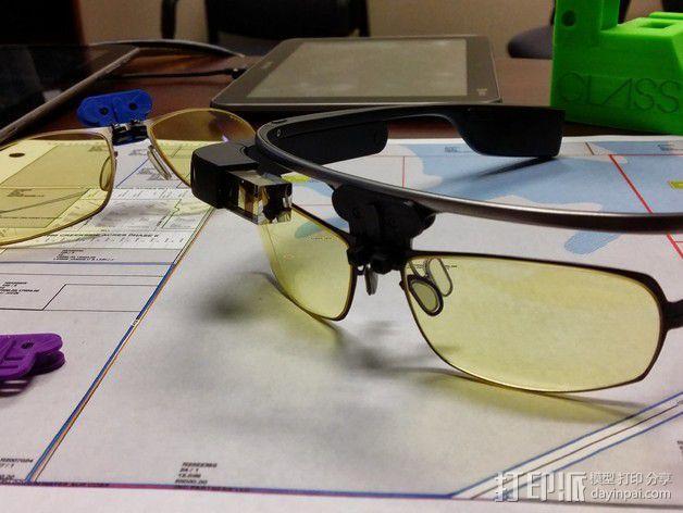 谷歌眼镜 眼镜横梁 3D模型  图2