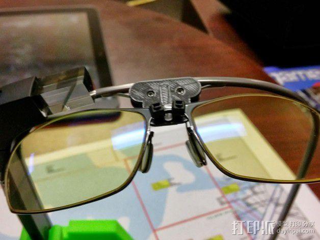 谷歌眼镜 眼镜横梁 3D模型  图3
