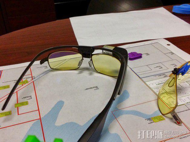 谷歌眼镜 眼镜横梁 3D模型  图4