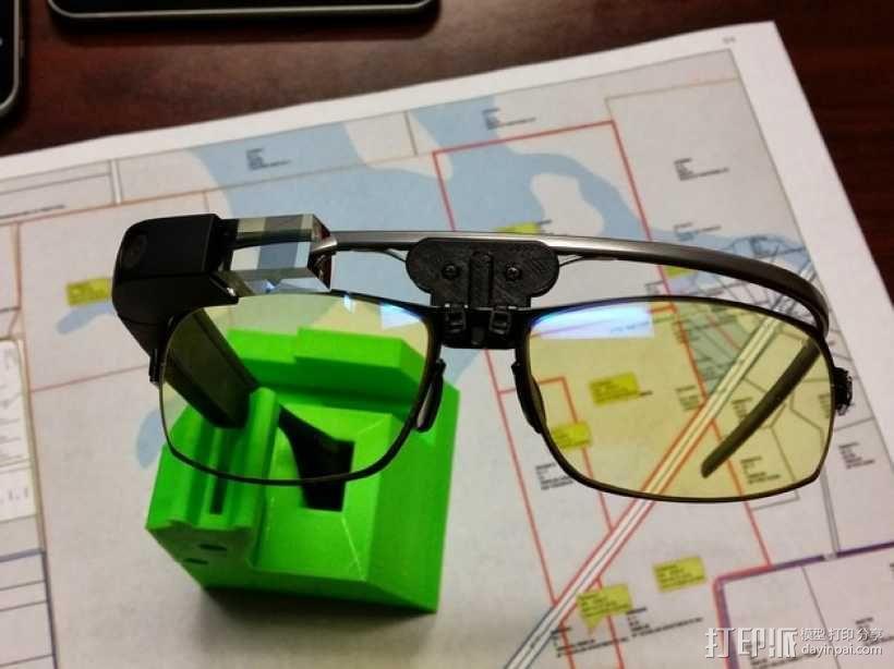 谷歌眼镜 眼镜横梁 3D模型  图1