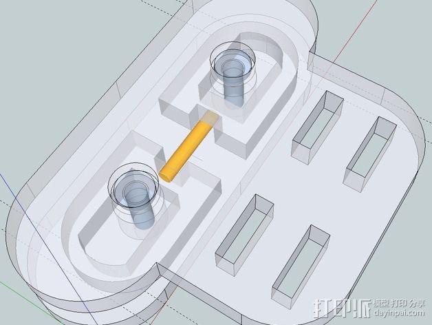 谷歌眼镜 眼镜横梁 3D模型  图8