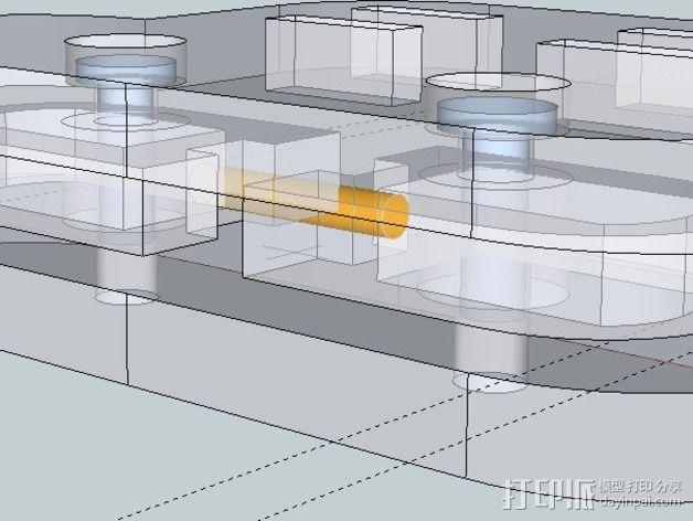 谷歌眼镜 眼镜横梁 3D模型  图9