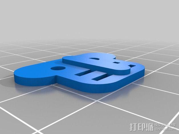 谷歌眼镜 眼镜横梁 3D模型  图13