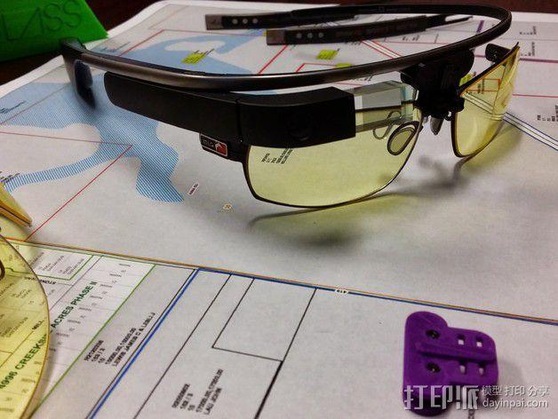 谷歌眼镜 眼镜横梁 3D模型  图10