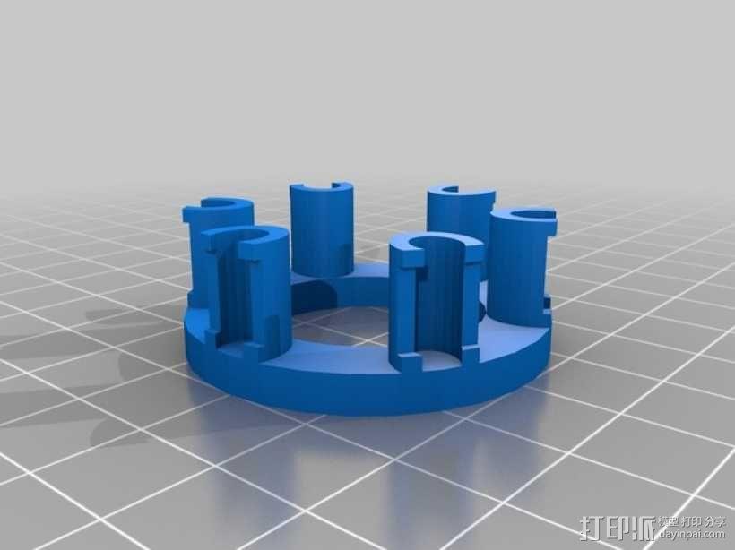 橡皮筋编织器 3D模型  图2