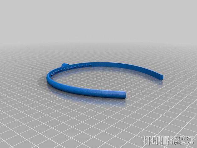 钻石头环 3D模型  图2