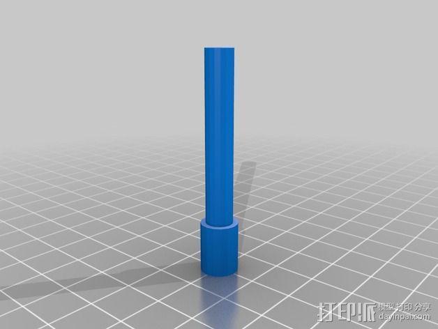 钻石头环 3D模型  图3