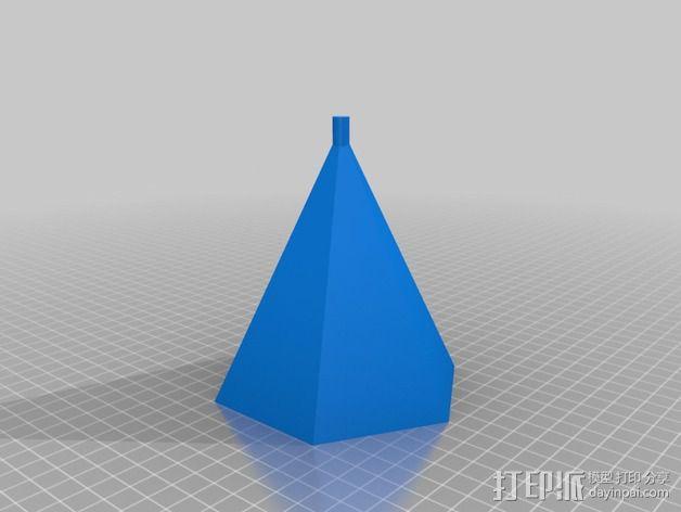 钻石头环 3D模型  图4