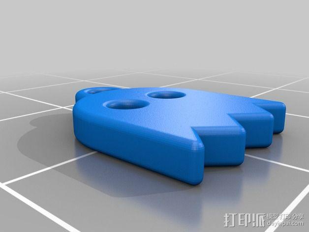 吃豆人耳坠 3D模型  图3