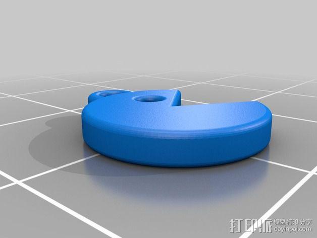 吃豆人耳坠 3D模型  图4