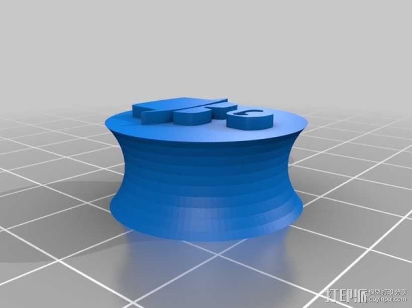 正方形耳钉 3D模型  图4
