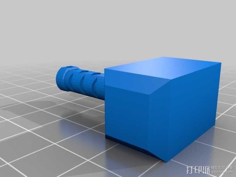 雷神之锤 耳坠 3D模型  图2