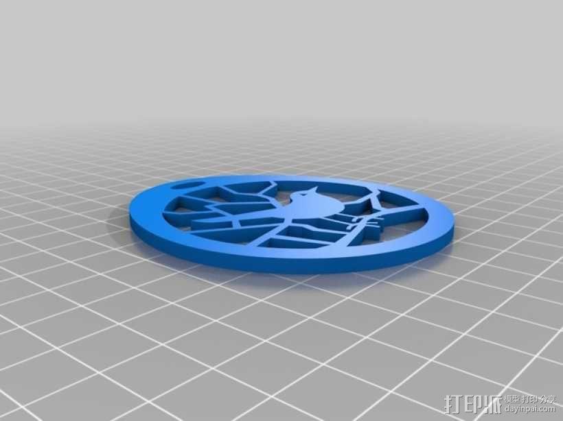 小鸟项链坠 3D模型  图1