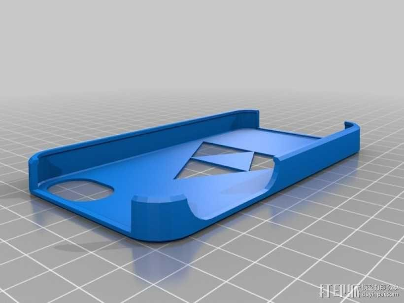 三角神力iPhone4手机壳 3D模型  图1