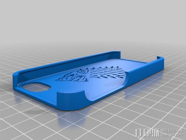 斯塔克家族 iPhone5手机保护套 3D模型  图2