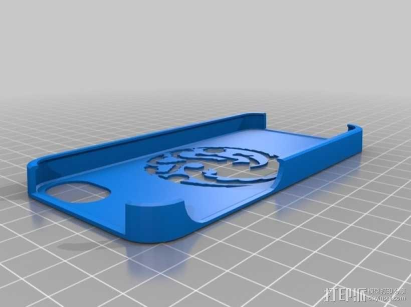 塔格利安家族徽标 iPhone5手机保护套 3D模型  图1