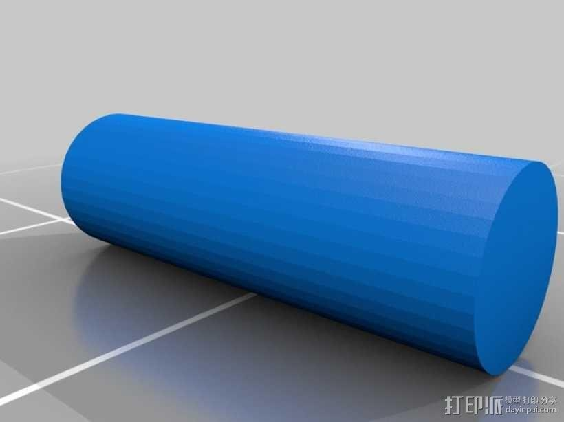 方形边框眼镜 3D模型  图3