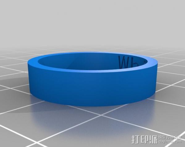 白虎戒指 3D模型  图1