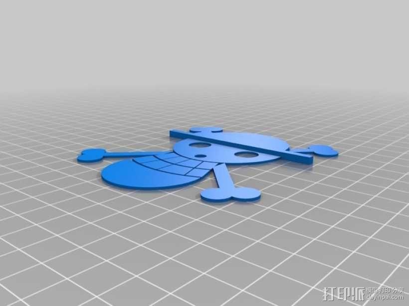 草帽海贼团 标志 3D模型  图1