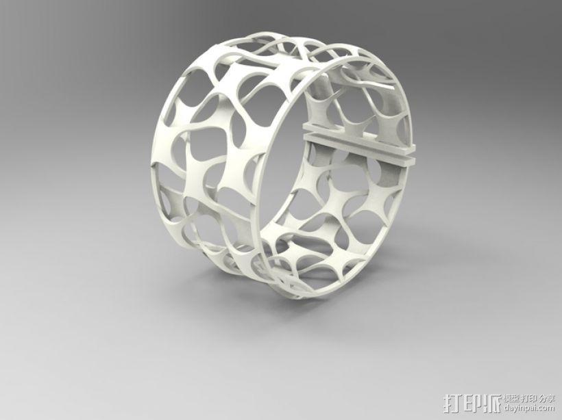 网状手镯 3D模型  图1