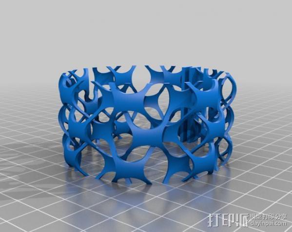 网状手镯 3D模型  图2