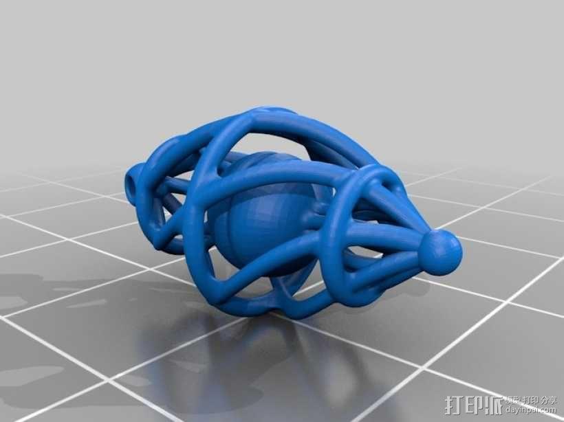 耳坠 3D模型  图3
