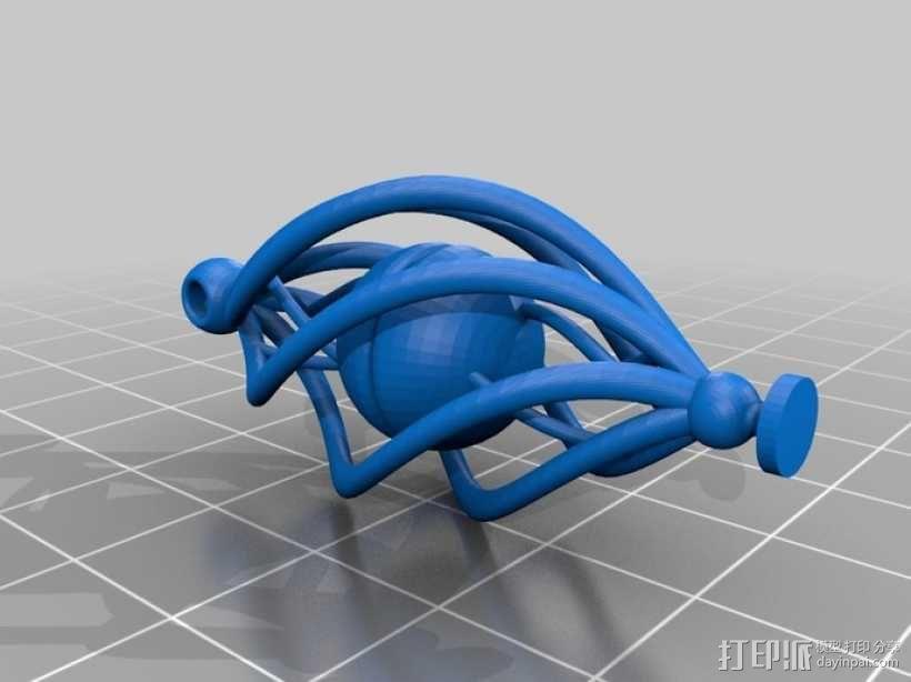 耳坠 3D模型  图4