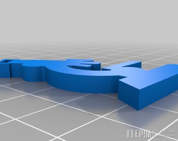 显微镜钥匙扣 3D模型  图4