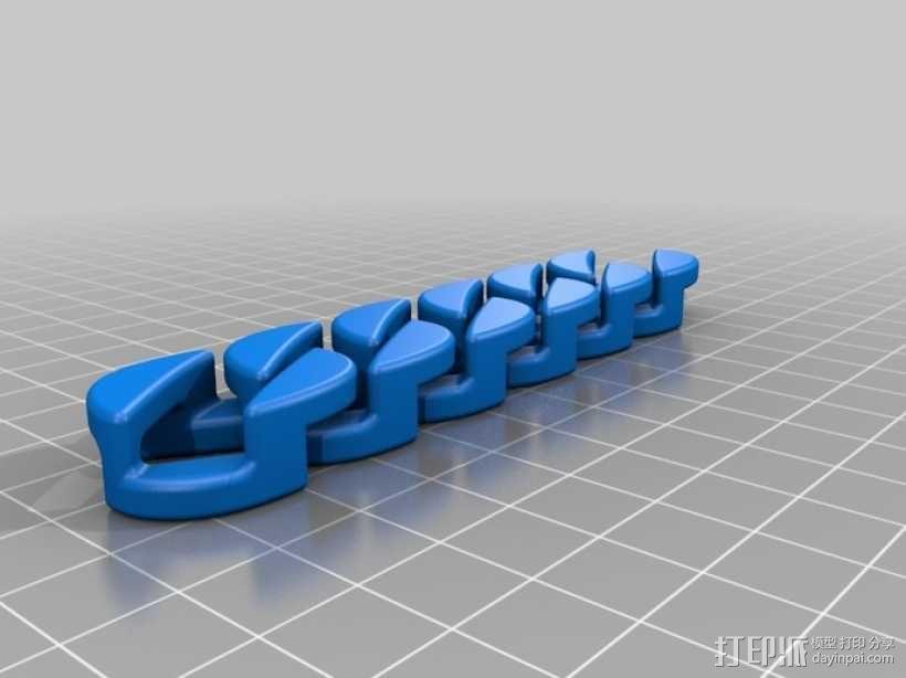 链条 3D模型  图1