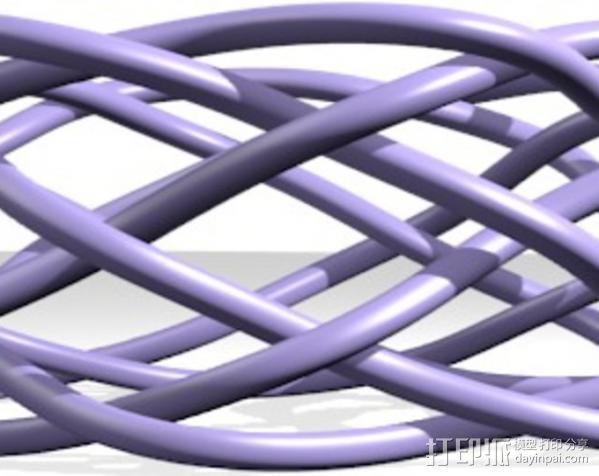 宽手镯 3D模型  图2