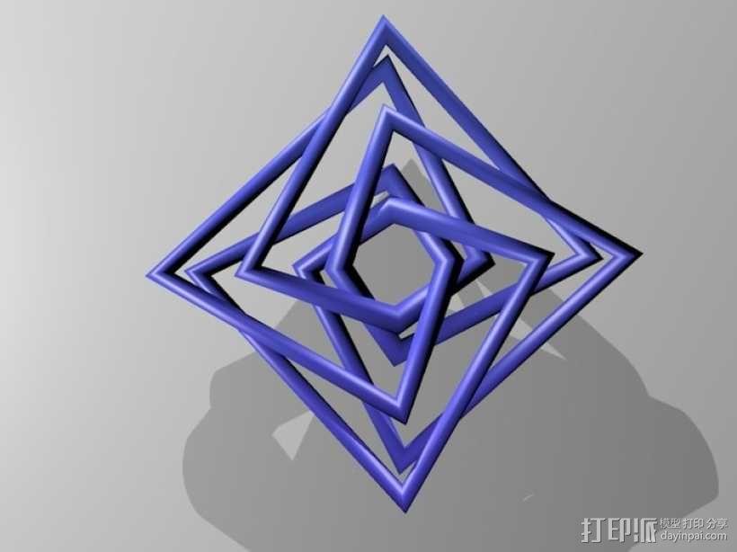 几何吊坠 3D模型  图2