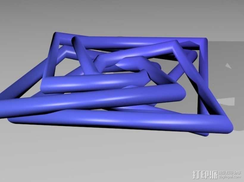 几何吊坠 3D模型  图5