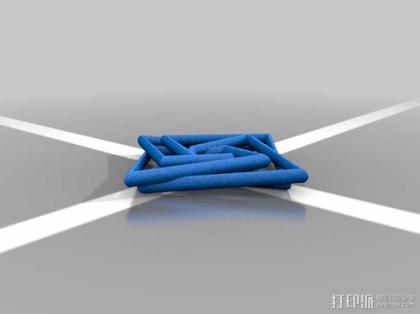 几何吊坠 3D模型  图3