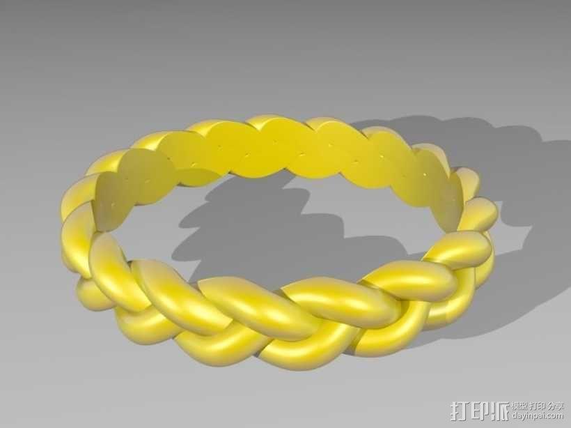 麻花辫手环 3D模型  图1