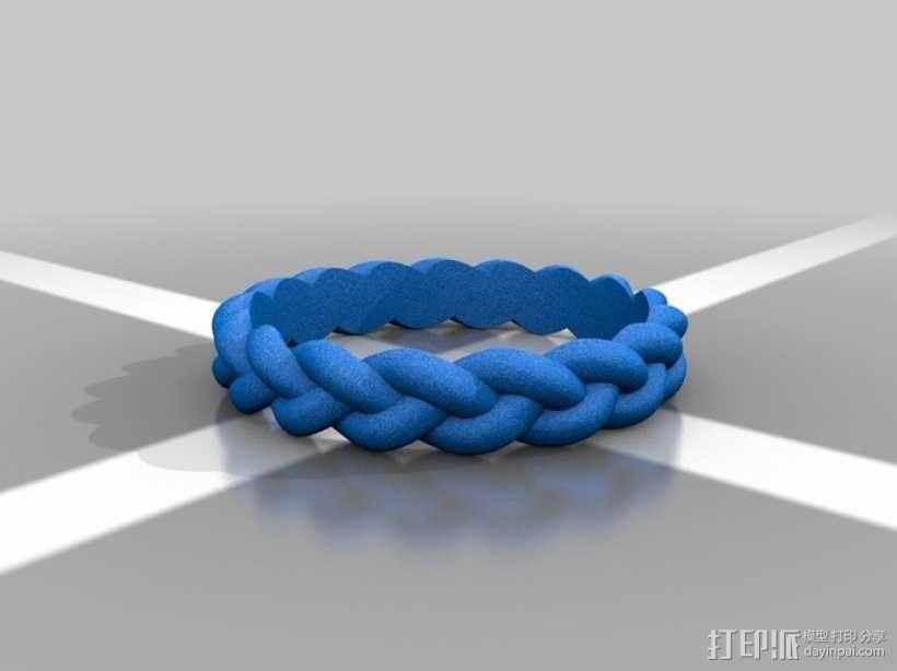 麻花辫手环 3D模型  图3