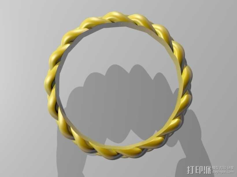 麻花辫手环 3D模型  图4