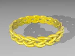 麻花辫手环 3D模型