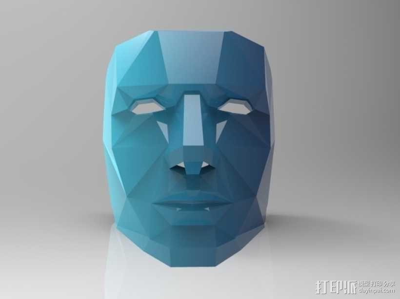 蓝色面具 3D模型  图1