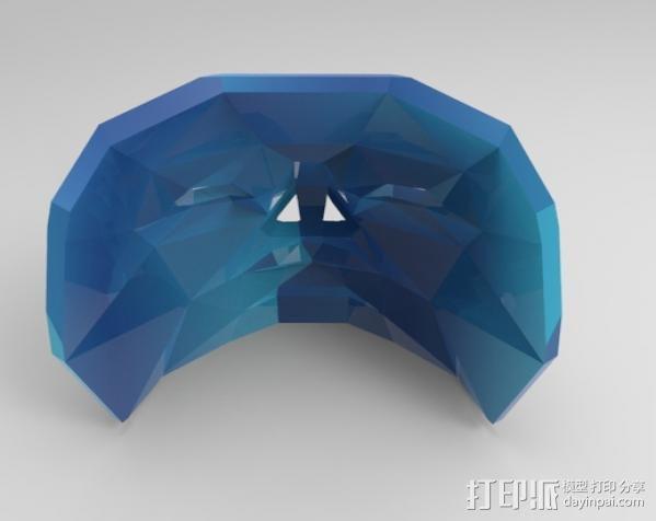 蓝色面具 3D模型  图3