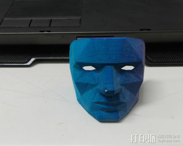 蓝色面具 3D模型  图6