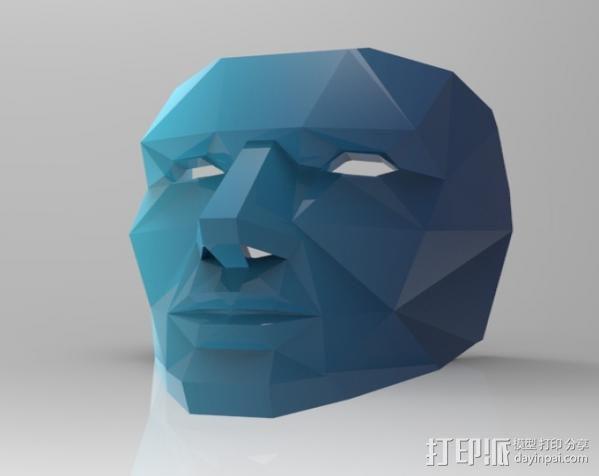蓝色面具 3D模型  图4