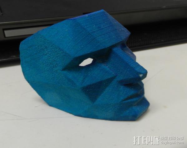 蓝色面具 3D模型  图7