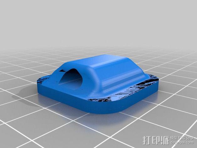 鞋带徽章 3D模型  图3